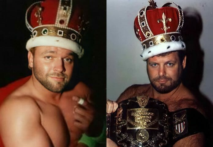 """""""Hot Stuff"""" Eddie Gilbert and Jerry """"The King"""" Lawler. Which royal wore it better?"""