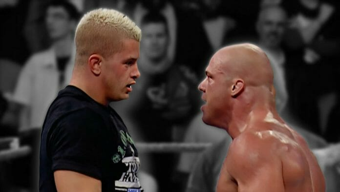 On November 4th, 2004, WWE Tough Enough contestant Daniel Puder stepped up to Olympic gold medalist and wrestling legend Kurt Angle.