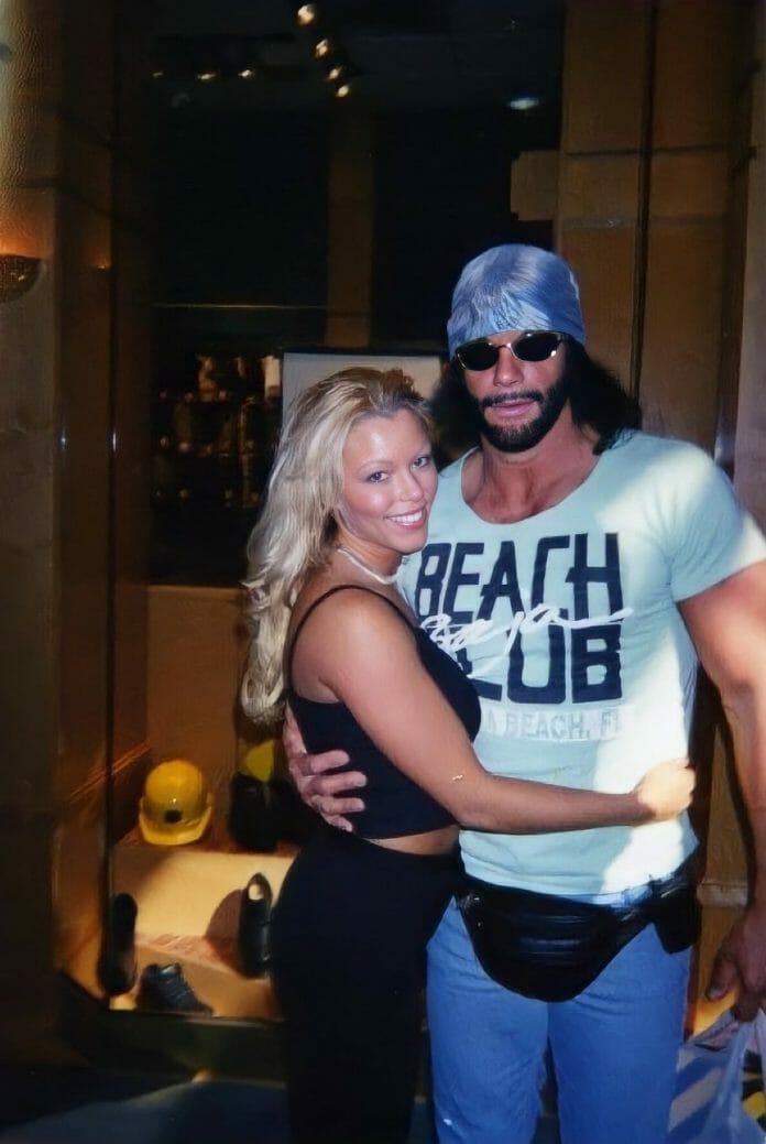 Randy Savage and his former girlfriend Stephanie Bellars (Gorgeous George).