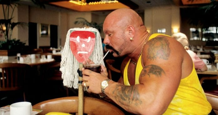 Perry Saturn with his beloved Moppy.
