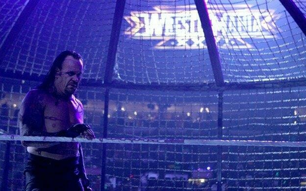 The Undertaker after the Elimination Chamber 2010 match. He is in a considerable amount of pain here.