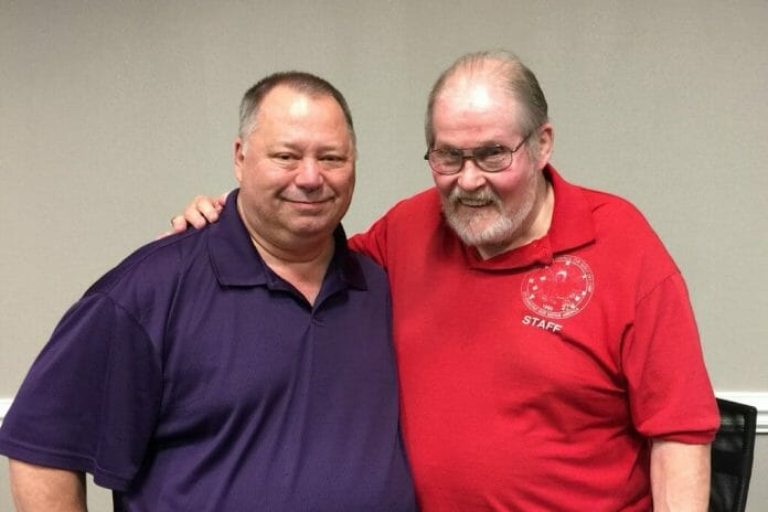 William Harding and Bob Roop meet on the 37th anniversary of the Sugar Hold Challenge at 2018's CWF Fanfest III.