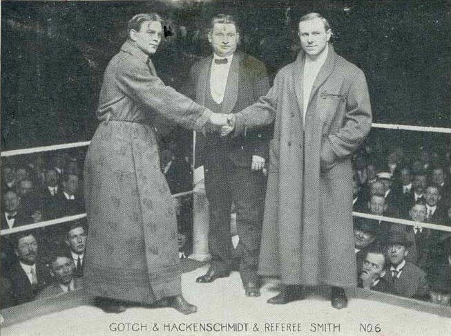 Frank Gotch vs. George Hackenschmidt was the bout everybody wanted to watch in 1908.