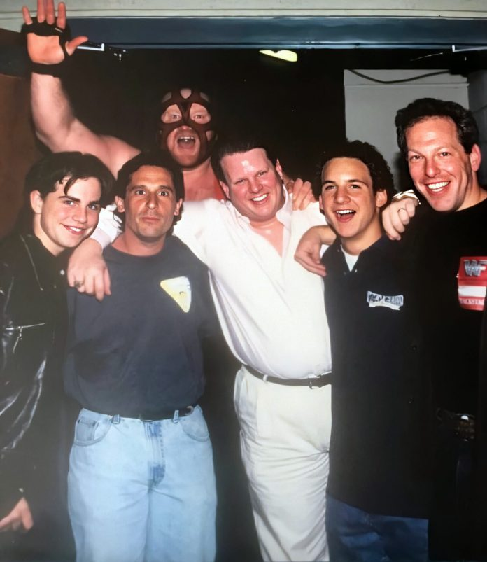 Big Van Vader and Bruce Prichard having fun with the Boy Meets World crew in '96.