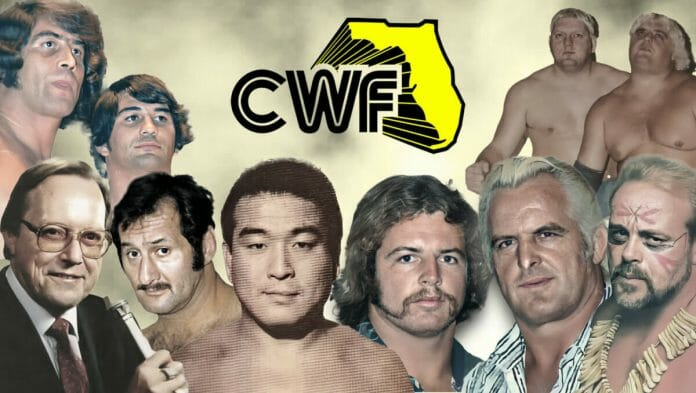 """The Championship Wrestling from Florida (CWF) wrestling territory thrived with Gordon Solie on the mic and stars such as Jack and Jerry Brisco, Boris Malenko, Hiro Matsuda, Mike and Eddie Graham, Kevin Sullivan, the """"Texas Outlaws"""" Dick Murdoch and Dusty Rhodes, and a host of others."""