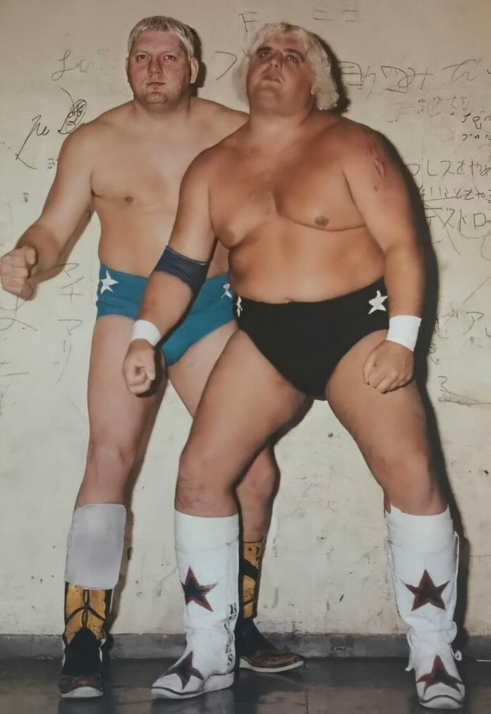 The Texas Outlaws: Dick Murdoch and Dusty Rhodes.