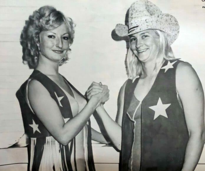 The tag team of Vivian St. John and Susan Tex Green, circa-mid '70s.
