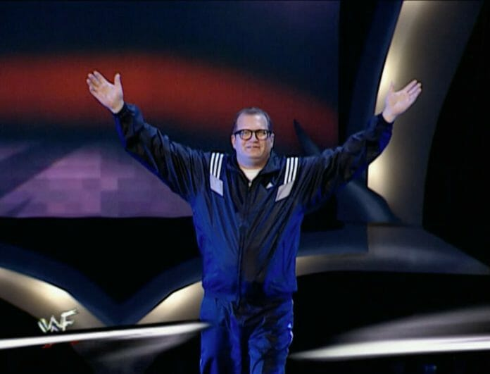 Drew Carey was a surprise entrant in the 2001 Royal Rumble