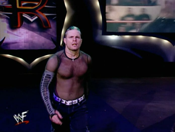 Jeff Hardy enters at the number 1 spot at the 2001 Royal Rumble.