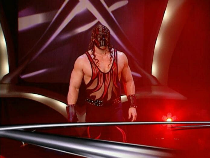 Kane enters as entrant number 6 in the 2001 Royal Rumble.