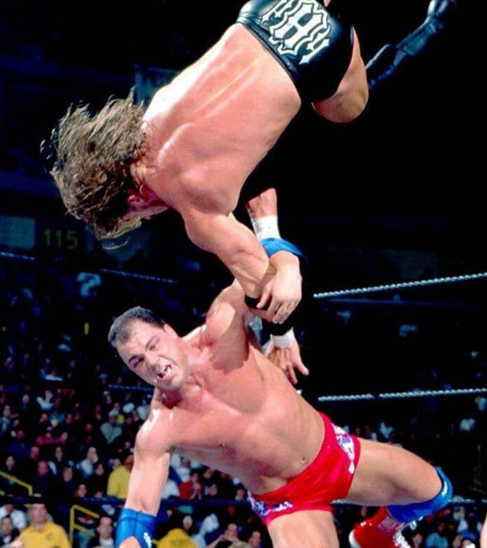 Kurt Angle vs. Triple H at the 2001 Royal Rumble.