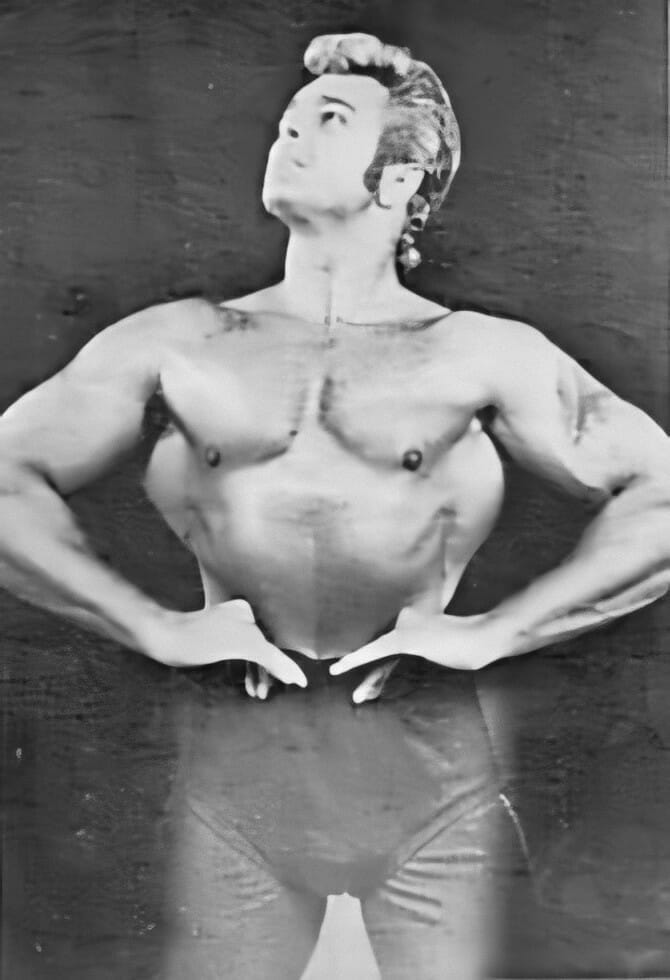 A young Jimmy Valiant early in his professional wrestling career.