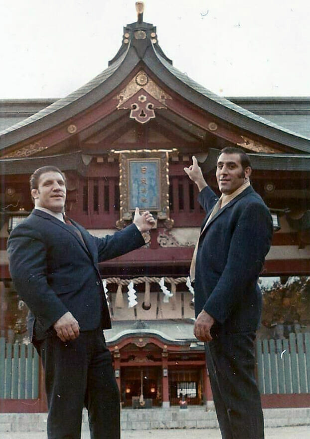 Dominic Denucci and Bruno Sammartino in Japan.