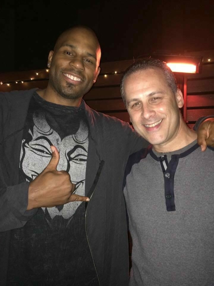 Shad Gaspard with my brother Mike on his 50th birthday.