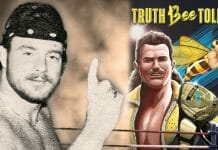 A young B Brian Blair and the cover of his new book, Truth Bee Told.
